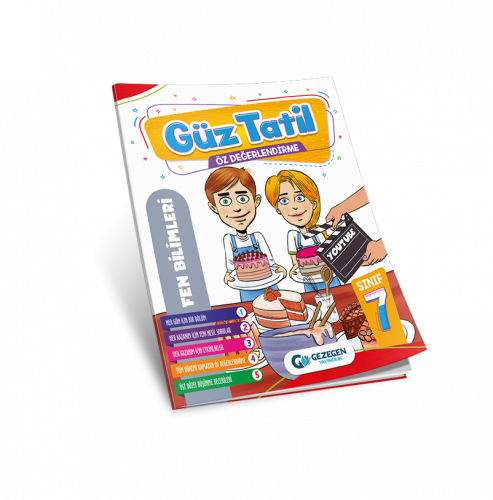 7. Sınıf Fen Bilgileri Güz tatil Kitabı